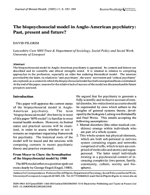 Editable biopsychosocial approach essay - Fill, Print ...