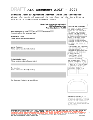 21 Printable Standard Form Of Agreement Between Contractor And