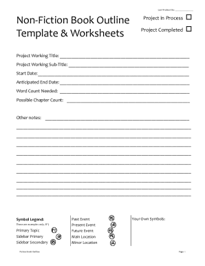 novel outline template chapter by chapter pdf fill online
