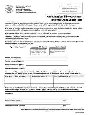 Voluntary Child Support Agreement Letter from www.pdffiller.com