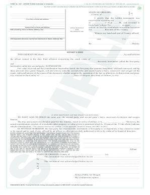 form 1457 affiant deed example
