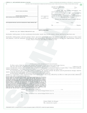 721 QUITCLAIM DEED (Individual or Corporate)