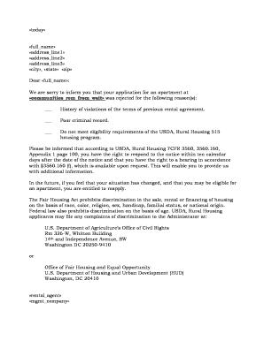 Usda rural development rejection letter fill online printable usda rural development rejection letter thecheapjerseys Gallery