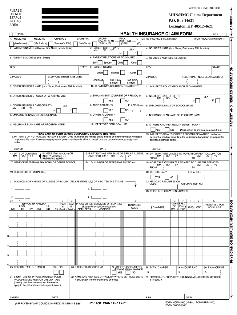 It is a graphic of Cms 1500 Form Printable with regard to mental health