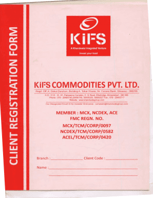 Fillable Online KYC Form - KIFS Commodities - Khandwalagroup