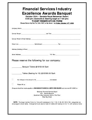 Banquet Form - Fill Online, Printable, Fillable, Blank | PDFfiller