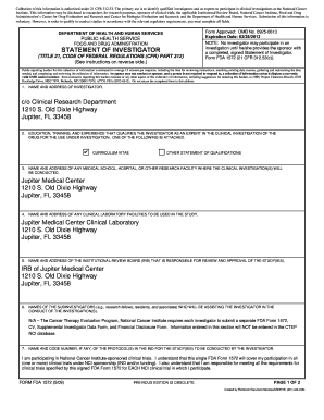 Fillable Online FDA Form 1572 - TrustedPartner Fax Email Print ...