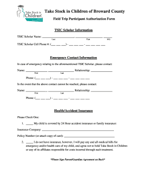 field trip forms