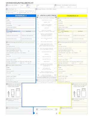 Fillable Online VERKEHRSUNFALLBERICHT A B Fax Email Print - PDFfiller