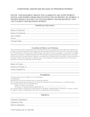 Bill Of Sale Form Missouri Unconditional Lien Waiver Templates ...