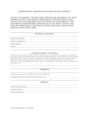 final payment form Fill Online, Printable, Fillable, Blank - PDFfiller