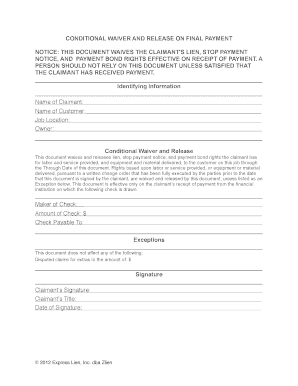 Bill Of Sale Form Missouri Unconditional Lien Waiver Templates ...