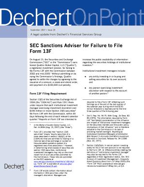 Fillable Online SEC Sanctions Adviser for Failure to File Form 13F ...