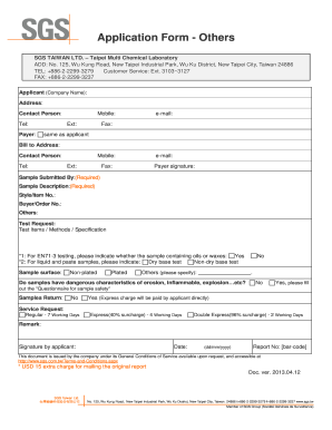 sgs human resources application form