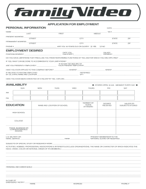family video application pdf form