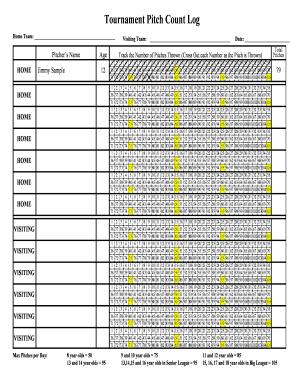 little league pitch count sheet pdf