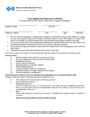 texas supplemental employment verification form