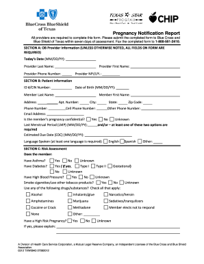 Blank Pregnancy Notification Form - Fill Online, Printable ...