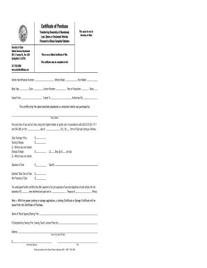illinois motor vehicle bill of sale form templates