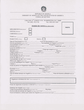 VISA APPLICATION FORM - Travel Document Systems