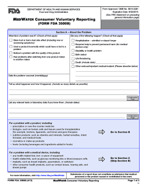 Form Fda 3500b 2011 - Fill Online, Printable, Fillable, Blank ...