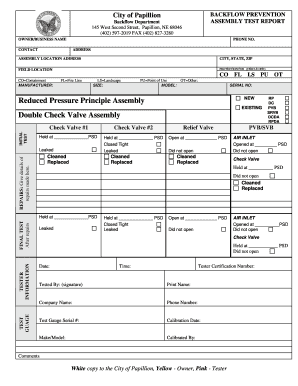Rpz Test Results - Fill Online, Printable, Fillable, Blank   PDFfiller