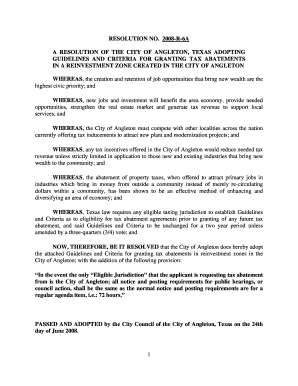 A RESOLUTION OF THE CITY OF ANGLETON, TEXAS ADOPTING
