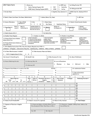 2017 Claim Form - Fill Online, Printable, Fillable, Blank | PDFfiller