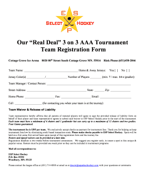 select hockey forms