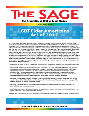 Senior action gay environment