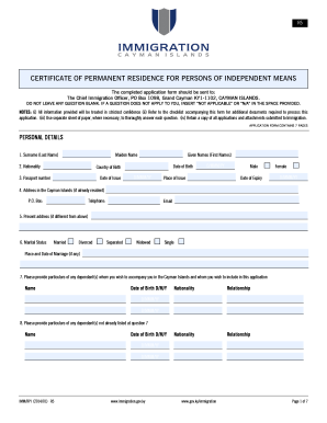 The completed application form should be sent to