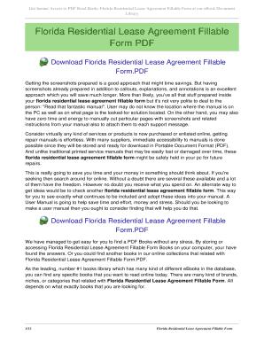 florida rental lease agreement pdf