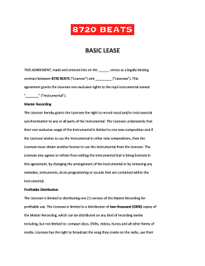 Editable Non Exclusive Rights Contract For Beats Pdf
