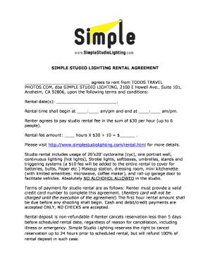 Printable Simple Room Rental Agreement Form Free Edit