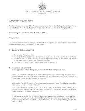 Fillable surrender letter of credit - Edit Online ...