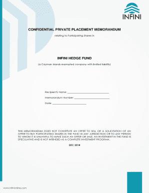 Cryptocurrency fund private placement memorandum