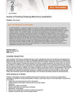 Audits of Existing Rotating Machinery Installation Brochure 2014 - 2kg co