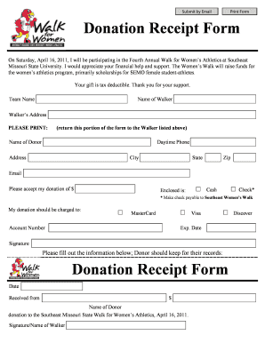 fillable online donation receipt form redhawkstvcom fax email