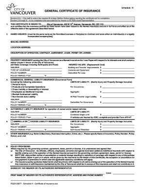 Fill out online forms templates download in word pdf schedule h general certificate of insurance platinumwayz