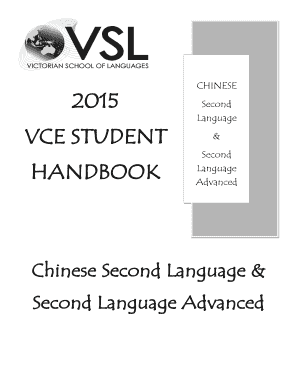 CHINESE 2015 Second Language VCE STUDENT - VSL
