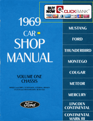 1969 Ford Mustang Service Manual PDF Demo View our free 1969 Ford Mustang Service Manual sample pdf and try before you buy