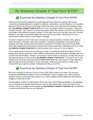 Fillable Online khunglong Ap Statistics Chapter 9 Test Form B