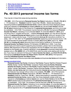 Pa 40 2014 >> Where To Mail Pa 40 Tax Return 2016 Edit Fill Print