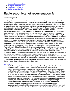 Eagle scout leter of recomenation form