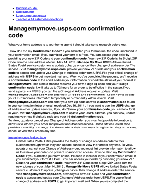 managemymove Fillable Online Managemymoveuspscom confirmation code Fax Email ...