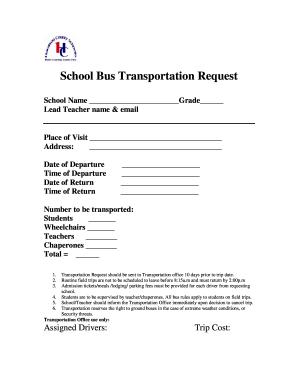Fillable Online haralson k12 ga School Bus Transportation