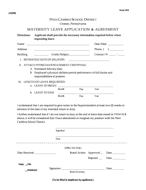 Get leave application for school Samples to Fill Online in PDF