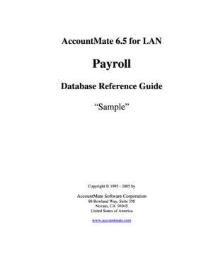 AccountMate 65 for LAN PR Database Reference Guide AccountMate 65 for LAN Technical Manual