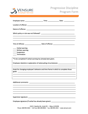 Employee discipline templates forms fillable printable for Progressive discipline template