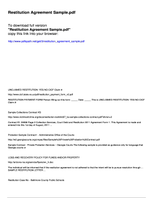 Sample trust agreement forms and templates fillable printable restitution agreement sample pdfslibforyoucom platinumwayz